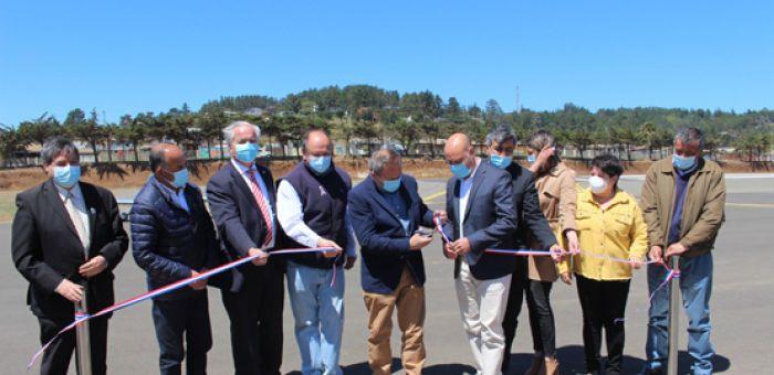 Pichilemu: Inauguradas oficialmente las obras de mejoramiento del Aeródromo del principal balneario de la Región de OHiggins